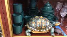 Set of Pfaltzgraff China and pair of decorative
