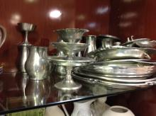 Selection of pewter items