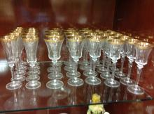 Large selection of gold rimmed stems