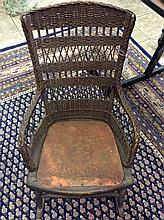 Antique 1850's Child's Rocking Chair With