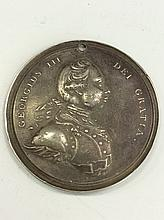 RARE George III Indian Peace Medal Rev War To