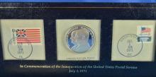 U. S. P. S. Silver Proof Commemorative Coin