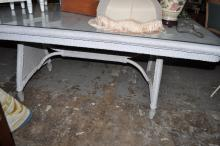 Large Wicker Dining Table