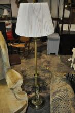 Brass Floor Lamp Table