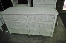 Low Wicker Dresser