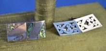 Taxco And Mexico Sterling Cufflinks