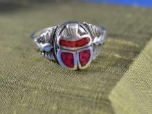 Mexican Sterling Scarab Ring