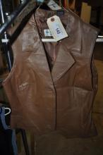Ladies Brown Leather Vest