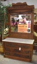 Victorian Renaissance Marble Top Dresser