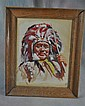 Dale Carlton Indian Chief Watercolor