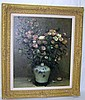 Raphael Perot Flower Still Life Oil On Canvas