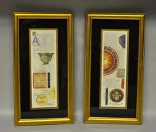 Pair Of Framed Mary Beth Zeitz Decorative Prints