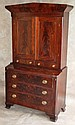 American Empire Secretary with Bookcase Top