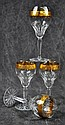 Gilt Banded Wine Stems, 4pcs