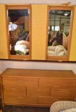Thomasville Low Dresser with Mirrors