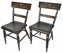 Painted & Stenciled Baltimore Chairs, 2 Pieces