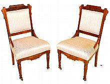 Eastlake Side Chairs, Pair