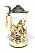 German Beer Tankard, 1 Piece