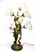 Spelter Figural Lamp