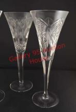 Waterford Millenium Champagne Flutes Plus