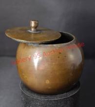 Tibetan Prayer wheel And Spice Pot