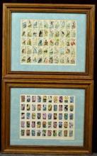 Framed Post Office Stamp Blocks, 2 Pc