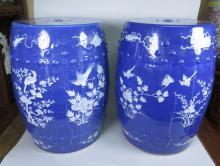 Chinese Blue Porcelain Garden Seat