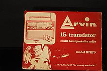 1960'S ARVIN 15 TRANSISTOR MULTI BAND PORTABLE RADIO - WORKS