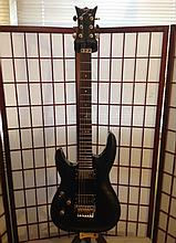 dean, floyd Rose guitar left-handed strung for right hander.