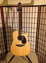 takamini acoustic electric tube guitar with case sell