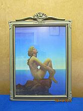 MAXFIELD PARRISH 16.5 X 12 IN A GREAT DECO FRAME