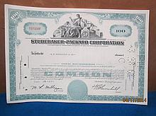 17 STUDEBAKER- PACKARD CORP. STOCK CERTIFICATES - JANUARY 3, 1961 TO ROTHSCHILD CO. CONSECUTIVE ORDER - Y 373268 TO Y 373285 - ALL IN MINT CRISP CONDITION - ALL ONE WAY
