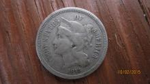 1873 - 3 CENT COIN - GREAT COND