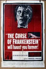 THE CURSE OF FRANKENSTEIN - 1957 - One Sheet Movie Poster - 27