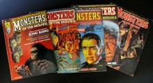 MONSTERS OF THE MOVIES MAGAZINE - LOT OF FIVE - Includes issues #1, 2, 3, 4 & 6 - Marvel Publishing, 1974-75 - Includes issues: #1, 2, 3, 4, & 6 - Stan Lee's classic monster magazine from the 70's. All B&W. All Excellent.