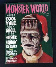 MONSTER WORLD MAGAZINE HOLIDAY ISSUE #6 - Warren Publishing, 1965 - Forry Ackerman's companion magazine to Famous Monsters. Excellent.