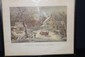 CURRIER AND IVES AMERICAN HOMESTEAD WINTER 21 X 17
