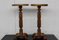 MATCHING PAIR OAK PEDESTALS 26