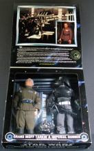 STAR WARS COLLECTOR SERIES GRAND MOFF TARKIN & IMPERIAL GUNNER (with interrogator droid) - Kenner Toy, 1997. Both 12