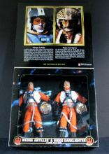 STAR WARS COLLECTOR SERIES REBEL PILOT DOUBLE PACK:WEDGE & BRIGGS - Kenner Toy, 1998. 12