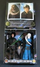 STAR WARS COLLECTOR SERIES JEDI LUKE AND BIB FORTUNA DOUBLE PACK - Kenner Toy, 1997. 12