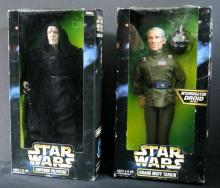 STAR WARS ACTION COLLECTION EMPEROR PALPATINE & GRAND MOFF TARKIN (with interrogator droid) - Kenner Toy, 1997. Both 12