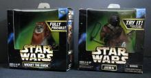 STAR WARS ACTION COLLECTION WICKET THE EWOK & JAWA  Kenner Toy, 1998. Two 6