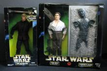 STAR WARS ACTION COLLECTION JEDI LUKE SKYWALKER & HAN SOLO DOUBLE PACK (Prisoner Han and Han frozen in carbonite) Kenner Toy, 1997. Both 12
