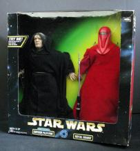 STAR WARS ACTION COLLECTIONELECTRONIC EMPEROR PALPATINE & ROYAL GUARD DOUBLE PACK Kenner Toy, 1998. 12