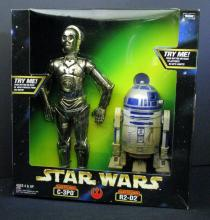STAR WARS ACTION COLLECTION ELECTRONIC C-3P0 & R2-D2 DOUBLE PACK Kenner, 1998. 12