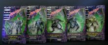 ALIEN HIVE WARS ACTION FIGURE LOT OF 5 Kenner, 1998. Lot includes Corporal Hicks, Integer 3, Acid Alien, Night Recon Predator, and Hive Warrior Alien. Very Good on sealed cards.