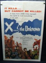 X... THE UNKNOWN - 1957 One Sheet Movie Poster - 27
