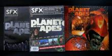 TIM BURTON'S PLANET OF THE APES 2002 CALENDAR & OFFICIAL MOVIE MAGAZINE - Both mint.