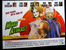 MARS ATTACKS - NYC SUBWAY MOVIE POSTER1996 - Rare large size, measuring 40